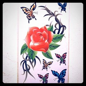 aa870aa47 Other - TEMPORARY RED ROSE & BUTTERFLY TATTOOS 🌹